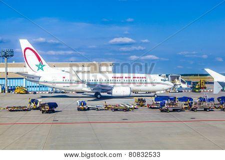 Airport Frankfurt Wioth Aircraft Of Royal Air Maroc
