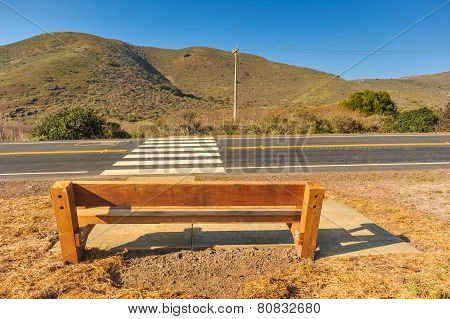 Bench By The Side Of A Road