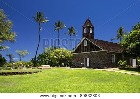 Keawalai Church near Maluaka Beach, south Maui, Hawaii, USA