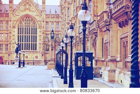 Houses of Parliament and Parliament tower, view from the Ab