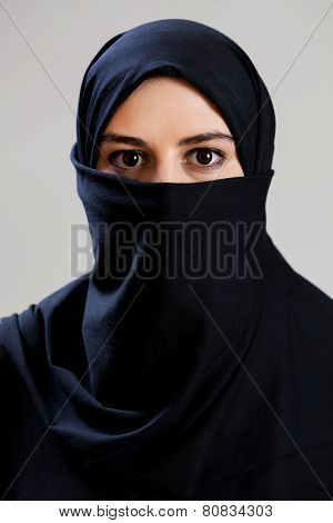 Muslim Woman With Big Dark Eyes