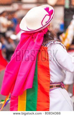 Banos de Aqua Santa, Tungurahua, Ecuador, November 2014, Young latin woman dancing  in the street