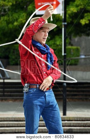 Cowboy Max At The World Buskers Festival, Christchurch, New Zealand
