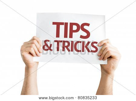 Tips & Tricks card isolated on white background