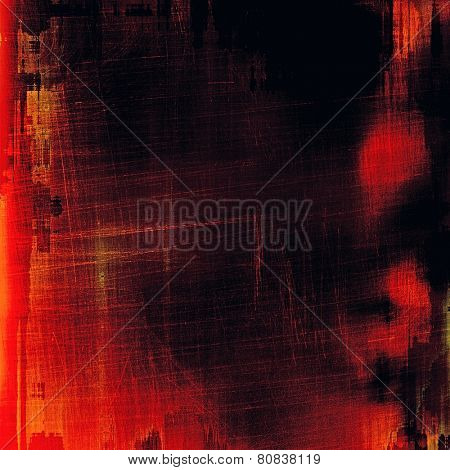 Designed grunge texture or background. With different color patterns: purple (violet); red (orange); black