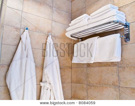 towels and bathrobes