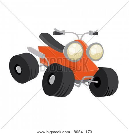 quad bike vector cartoon illustration