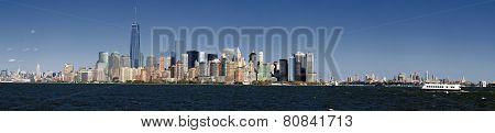 Panorama New York City And Brooklyn