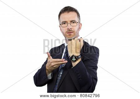 Smartwatch on Businessman