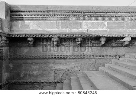 Crafted Designs On Rocks Adalaj Stepwell In Ahmedabad
