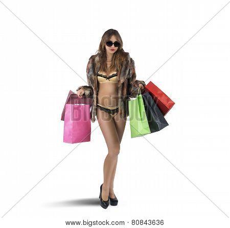 Luxury shopaholic
