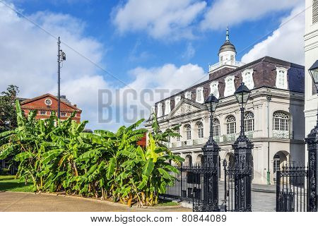 FRANKFURT, GERMANY - JUNE 4, 2012: Louisiana state museum at Jackson Square New Orleans
