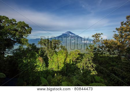 Agung Volcano On The Sunrise