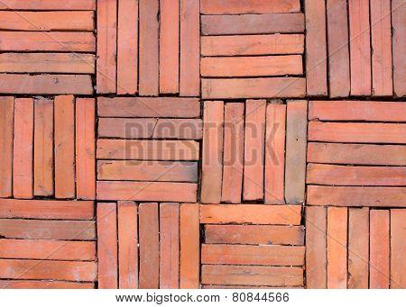 Brick Walk Way Pavement Background
