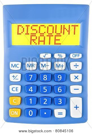 Calculator With Discount Rate