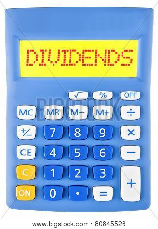 Calculator With Dividends