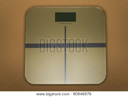Weight Scale In Gold
