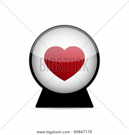 Vector Love Heart Dome Illustration