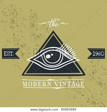 all seeing eye of horus vintage art