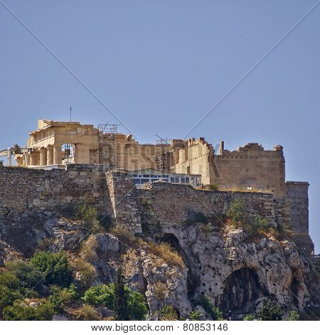 Athens Greece propylaea on acropolis