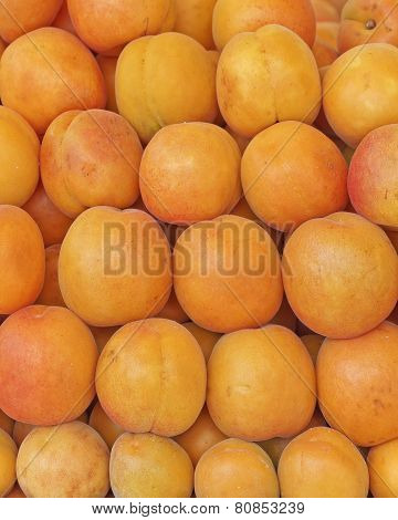 fresh apricots natural background