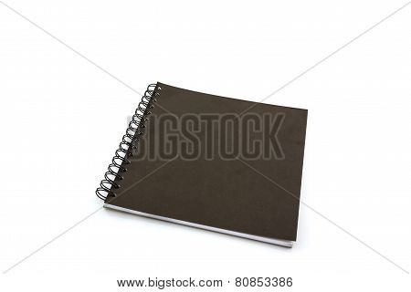 Black Sketch Book On White Background.