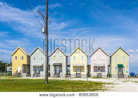 Beautiful Tourist Huts At The Beach