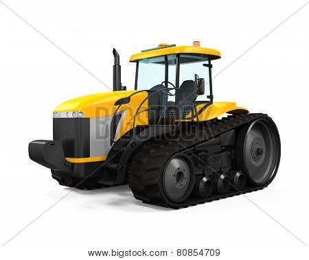 Track Tractor Isolated