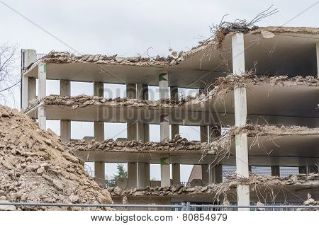 Demolition Parking Garage