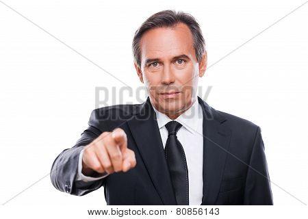 Businessman Choosing You.