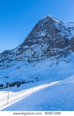 The North Face Of The Eiger In Winter