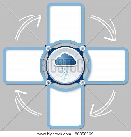 Cloud and text boxes