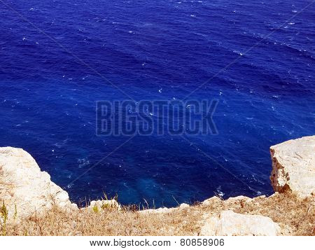 Blue Sea And The White Rock