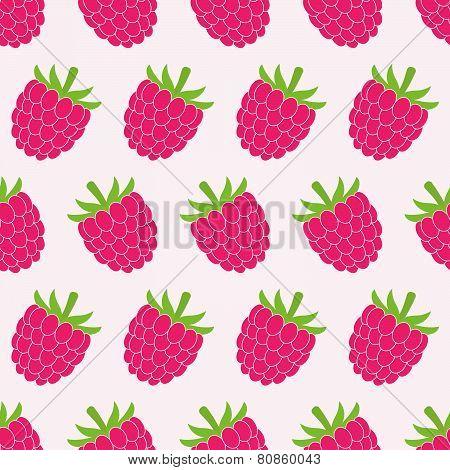Seamless raspberry pattern.