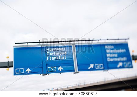 Bundesautobahn 5 Highway In Germany