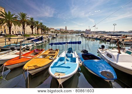 City Of Split Colorful Harbor View