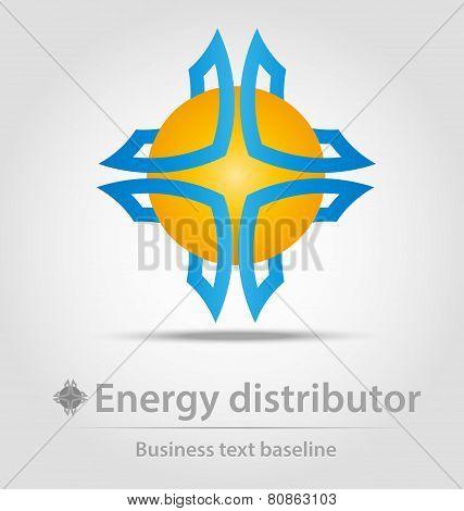 Energy Distributor Business Icon