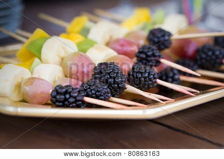 Fruits On A Toothpick