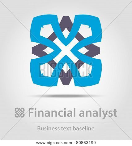 Financial Analyst Business Icon