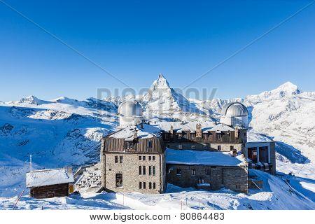 Panorama View Of Matterhorn Massive From Gornergrat
