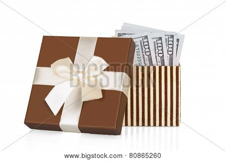 Us Currency In Gift Box