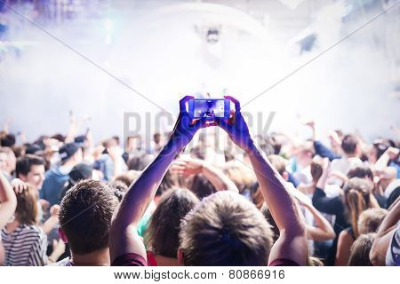 Silhouettes Of A Crowd