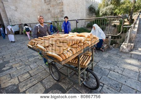 Bread On Carrier Tricycle
