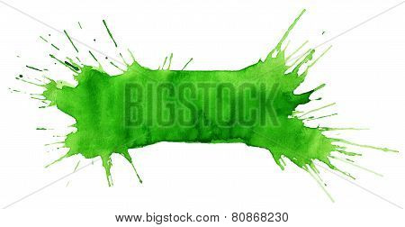 Blot Of Green Watercolor