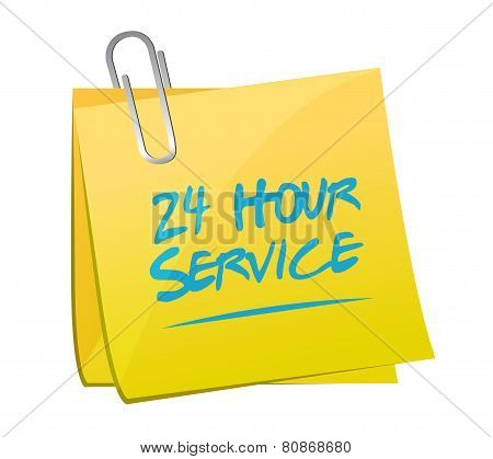 24 Hour Service Post Illustration Design