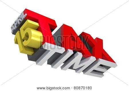 3D Tax Time Text