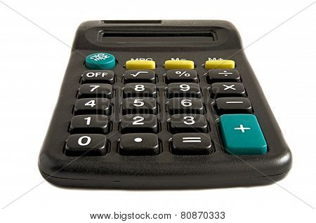 The Calculator On A White Background.