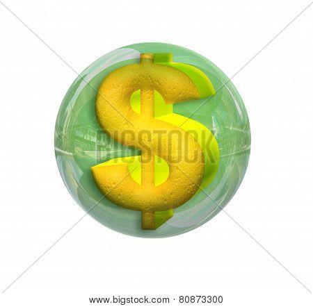 Dollar In A Sphere
