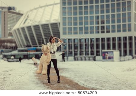 Girl With Baby Bear.