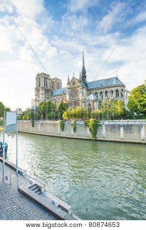 Notre Dame De Paris Christ Chruch In France.